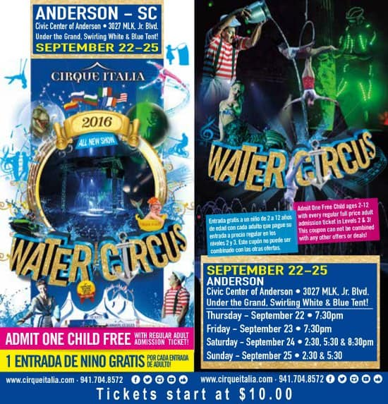Cirque italia coupon code