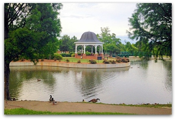 The pond at Cleveland Park in Spartanburg