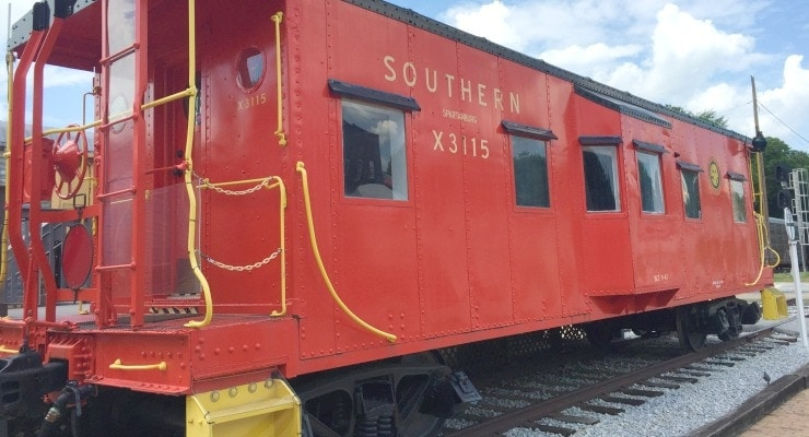 The Hub City Railroad Museum in Downtown Spartanburg is Free to Visit