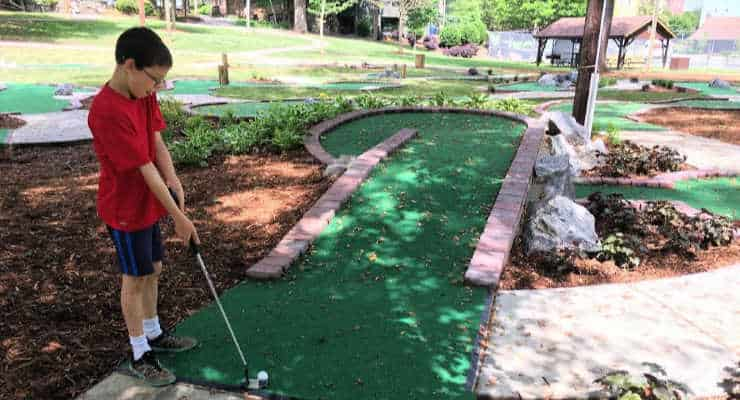 Mcpherson Park Has A Free Mini Golf Course In Downtown Greenville Sc